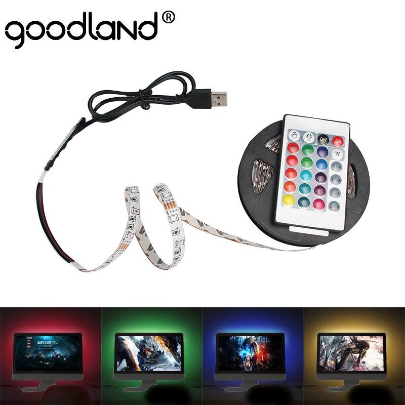 USB LED Strip TV Backlight Ribbon LED Flexible Diode Tape SMD3528 DC 5V LED Light Strip 50CM 1M 2M 3M 4M 5M RGB Ledstrip For PC