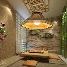 A1 Chinese rural grass vine tea restaurant creative pendant light Hot pot shop farmhouse restaurant retro lamps