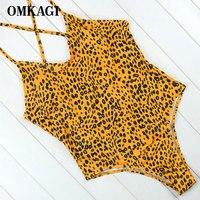 OMKAGI Brand One Piece Swimsuit Sexy Swimwear Women Push Up Swimming Suit For Women Bathing Suit