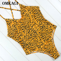 OMKAGI Brand One Piece Swimsuit Sexy Swimwear Women Push Up Swimming Suit For Women Bathing Suit