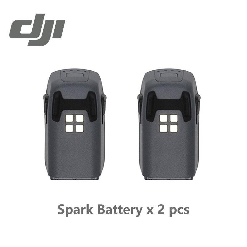 DJI Funken Batterie (1480 mAh/11,4 V) Intelligente Flug Baterie für Funken Mehr Flugzeit Original Zubehör 2 Stücke