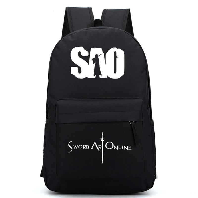 Новый дизайн меч искусство онлайн мультфильм унисекс Наплечная Сумка SAO печати мальчики девочки Школьный рюкзак подарки