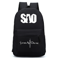 New Design Sword Art Online Cartoon Unisex Shoulders Bag SAO Print Boys Girls School Backpack Gifts