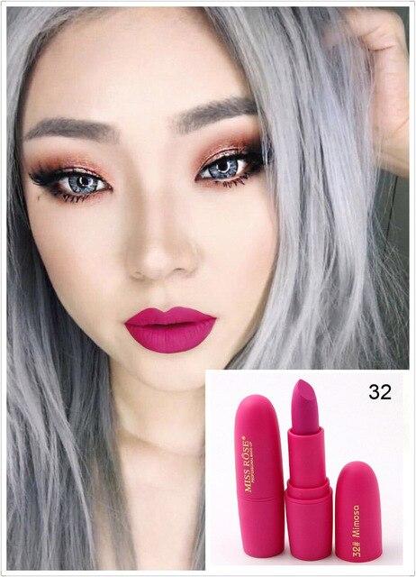 New Sexy Red Lips Matte Velvet Lipstick Pencil Cosmetic Long Lasting Lip Tint Pigment Makeup Nude Brown Lipstick Matte Lip stick 4