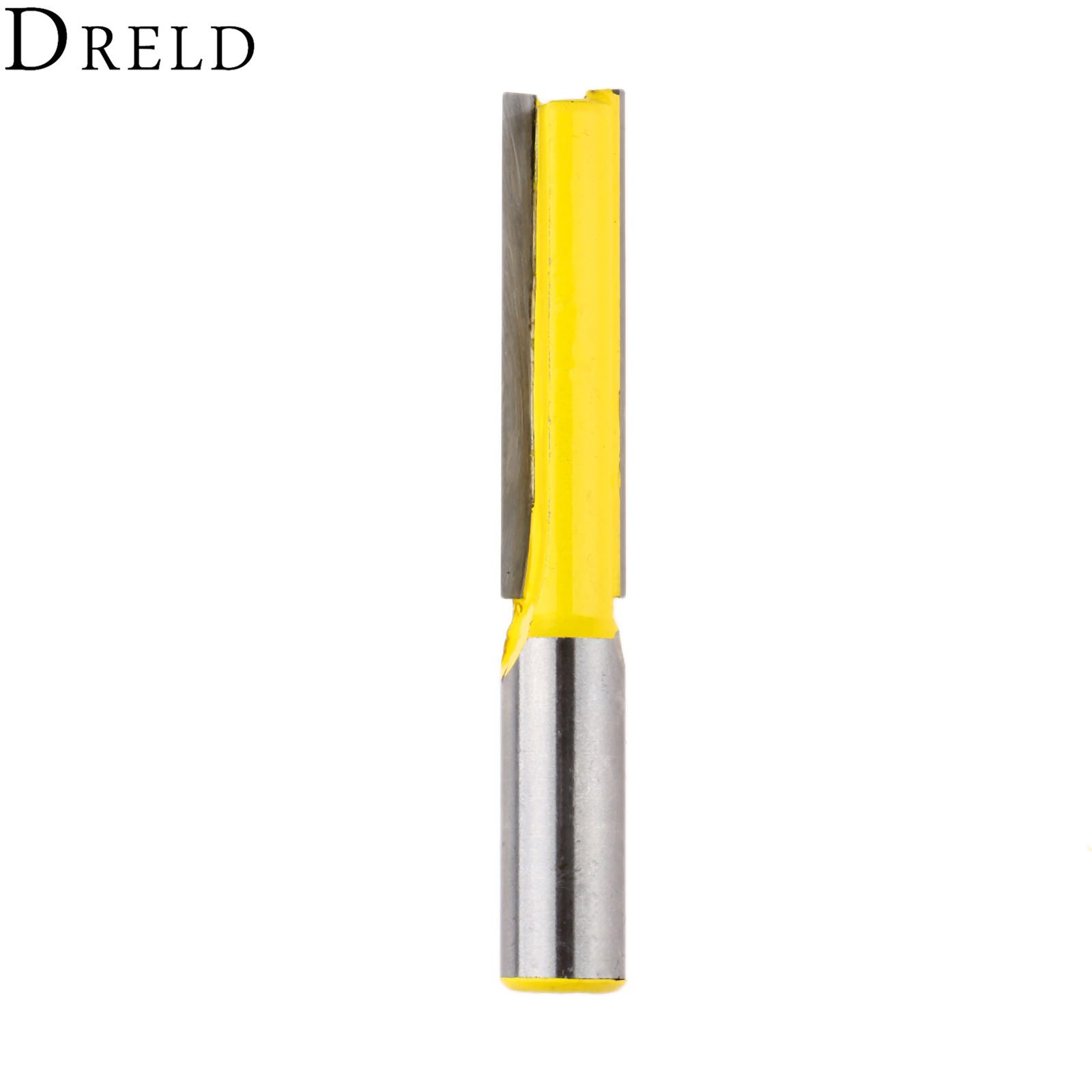 DRELD 1pc Wood Cutter 1/2 Shank Extra Long Straight Router Bit Milling Cutters Tools Woodworking Tenon Cutter 1/2