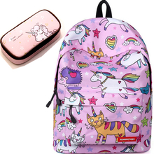cute backpacks for teenage girls Junior School bag backpack school girl set bags with case Laptop kids unicorn backpack