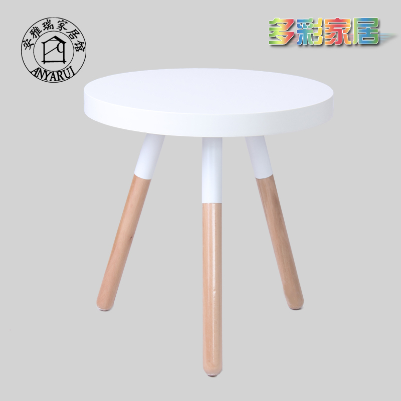 Simple And Stylish Candy Colored Small Round Table Coffee