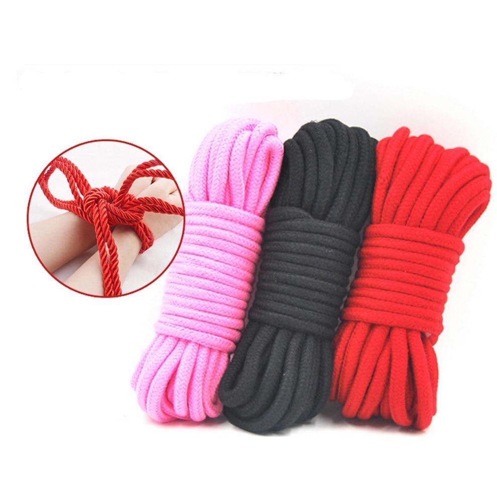 BDSM Fetish Rope Slave 10M Sex Toys Provocative Alternative Supplies Cotton Collar Tied Bondage Comfortable Kit Hurtless Body