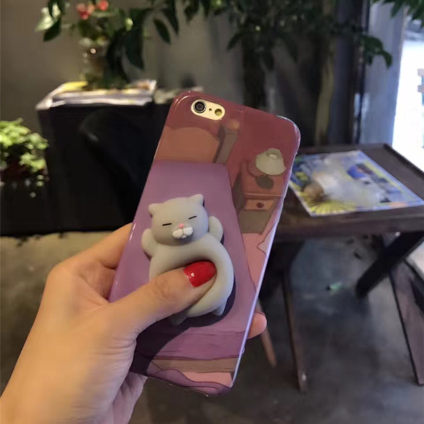 Stress Reliever Coque For font b iPhone b font 7 7 Plus Case Soft Silicone Squeeze