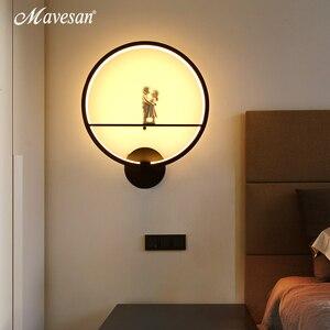 Image 5 - Lampe murale minimaliste, éclairage dintérieur, avec oiseau ange, en noir et blanc, décoration pour la maison, offre spéciale