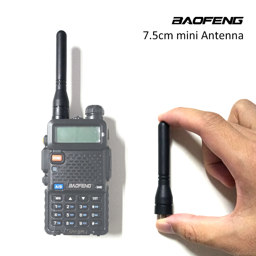 Baofeng 7.5cm Mini Size Antenna UHF Band Walkie Talkie Antenna Two Way Radio Gain Antenna For UV-5R 5RE 5RA UV-82 888S