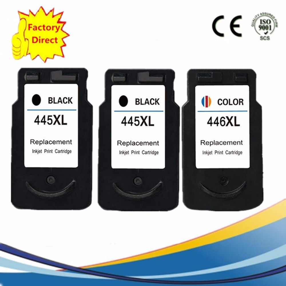 PG-445XL PG445XL PG 445XL CL-446XL CL446XL CL446XL Ink Cartridge Ulang PIXMA IP 2840 M X 494 MG 2440 2540 2940