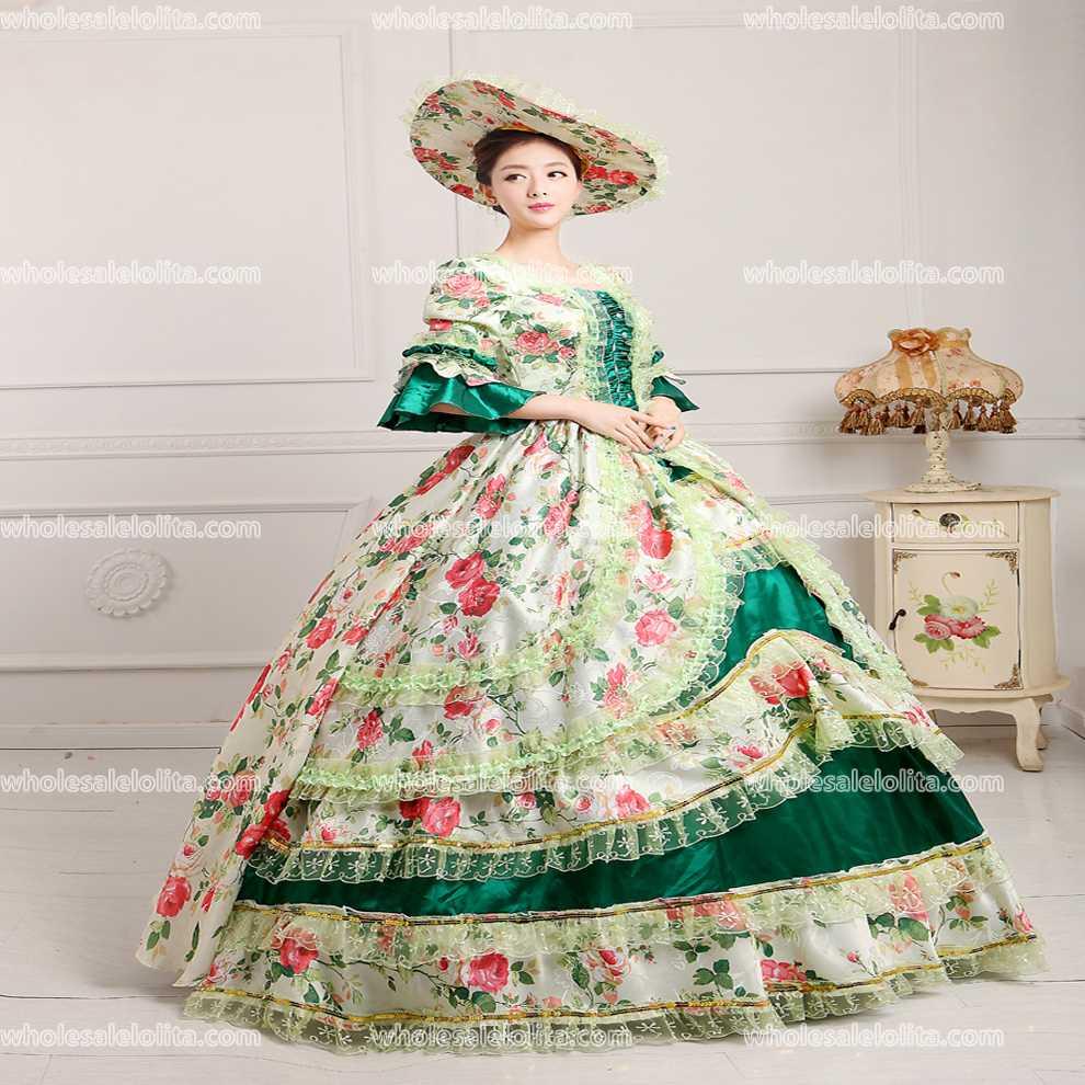 Top Verkauf Rokoko Kleid Party Belle Ball Theater Kleid/Gothic ...