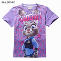 Zootopia Summer Child Boys Girl Short T shirt 4-11Years Cotton Good Quality Children Kids Baby Boys Shirts Clothes SAILEROAD