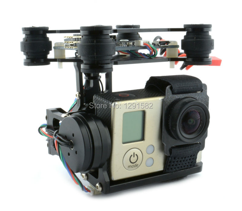 RTF 2 Axis Brushless Gimbal Camera Mount w BGC 3 12 storm32 Controller Board 2204 260kv