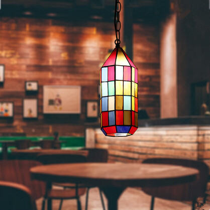 Multicolor Glass Tiffany LED Pendant Lights,Colorful Hanging Lamp Lamparas Colgantes For Bar Dining Room pastoral tiffany glass pendant lights latin american colorful tiffany lighting lamp mediterranean hanging glass lamp cover lampe