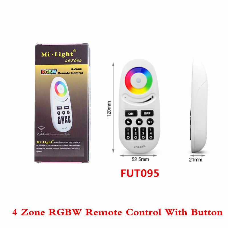 Nouvelle expérience Mi Light 2.4 GHz 4 zones RGBW télécommande avec bouton écran tactile FUT095 télécommande pour RGB + CCT Led ampoule