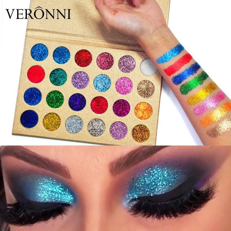 VERONNI Professional Eye Shadow Palette 24 Colors 2019 New Eye Makeup Glitter Eyeshadow Pressed Palettes Beauty Cosmetics