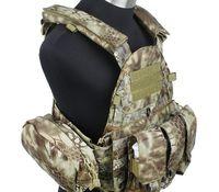 Военно тактический жилет molle Airsoft Военная Тактическая Серия 6094 стиль Плиты Перевозчик ж 3 мешков (MAD) спортивный жилет
