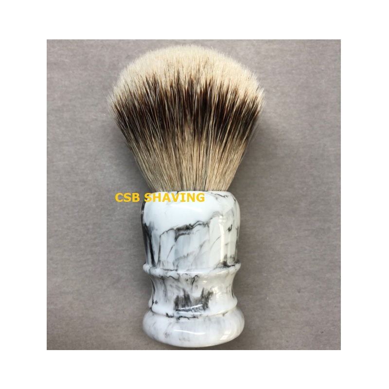 CSB High Quality Silvertip Badger Hair Knot 24mm Shaving Brush Marble Pattern Mustache Beard Professional Shave Wet Tool-in Shaving Brush from Beauty & Health    3