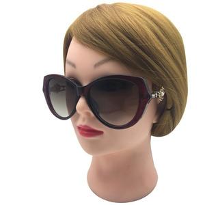 Image 2 - Zonnebril Vrouwen Charmante Vintage Elegante Bloem Versieren Dames Zonnebril Luxe Vrouwelijke Sexy Meisje Brillen