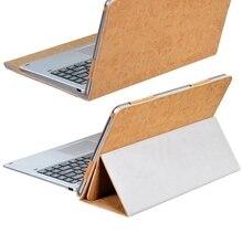 Dolmobile lujo 2 en 1 cubierta de cuero de la pu case para chuwi hi13 13.5 pulgadas tablet + stylus pen (puede poner el teclado)
