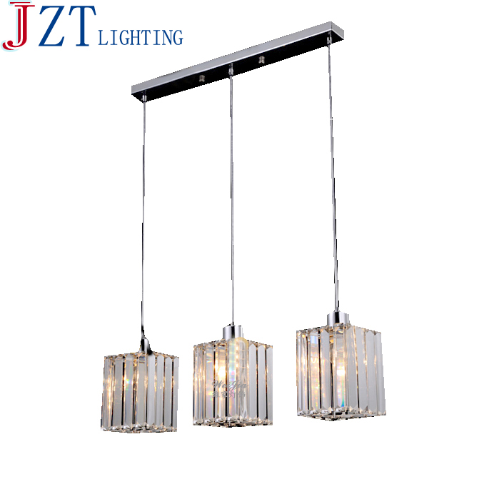 z modern round led crystal chandelier clear k9 crtstal rectangular dining table lamp for bar coffee - Chandelier Table Lamp