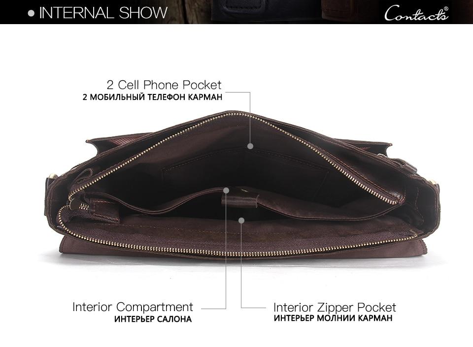 HTB187uptuSSBuNjy0Flq6zBpVXao CONTACT'S men's briefcase genuine leather business handbag laptop casual large shoulder bag vintage messenger bags luxury bolsas