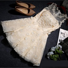 wholesale lace embroidery cheongsam 2018 new bandage dress toast clothing Bra paragraph evening dress bridesmaid dress w885