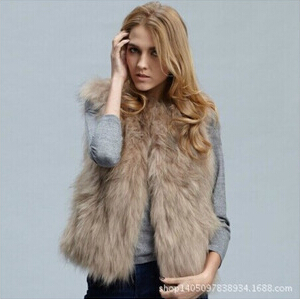2015 Fashion Winter Women fourrure Fur Vest Faux Fox Fur Coat Woman Cloak Fur Vests Jacket
