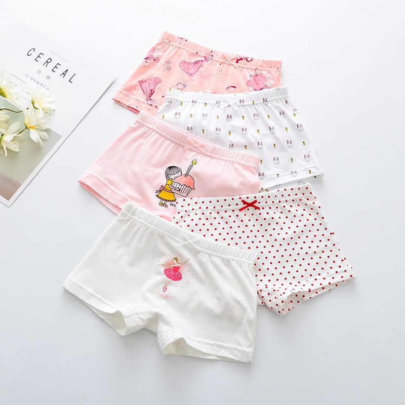 638abe97375a 5Pcs/lot Girls Cotton Boxer Briefs Girl Dance Panties Girls Boxer Shorts  Children's Panties Kids