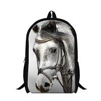 Ferghana horse backpacks for primary students,school back packs for teens,boys plush horse bookbags for travling,leisure bag