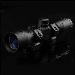 Mira telescópica ótica 4x32 do escopo do rifle para a arma de caça ampliada 4 vezes