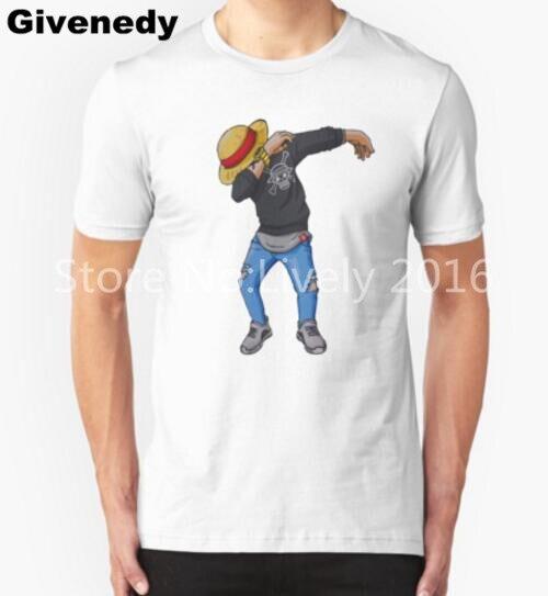 2016 de La Moda de Una Pieza T-Shirt Moda Hombres/Boy Anime Cosplay camiseta de Manga Corta Camiseta Luffy One Dab Tops Ropa