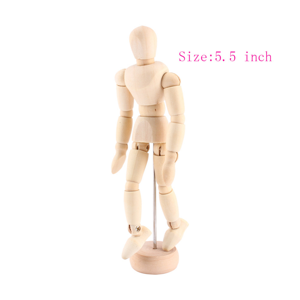 Painting Teaching Tools 5 5 Inch Wooden Manikin Figures