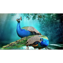 peacock diamond Embroidery diy painting mosaic diamant 3d cross stitch picture H593