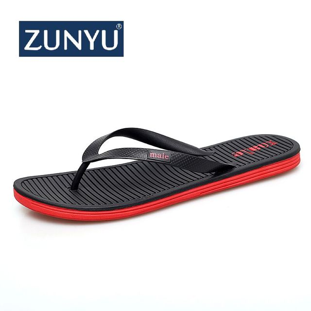 ZUNYU New Arrival Big Size Summer Men Flip Flops High Quality Beach Sandals Anti-slip Zapatos Hombre Casual Shoes Drop Shipping