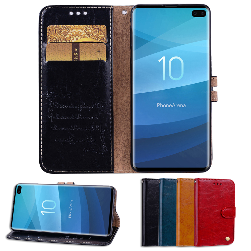 Phone Cases For Samsung Galaxy S10e PU Leather Business Style Flip Case Cover S10 Plus S10+