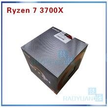 AMD Ryzen 7 3700X R7 3700X3.6 GHz 7NM L3 = 32M 100 000000071 8 Core 16 iplik CPU İşlemci soket AM4 soğutucu ile soğutma fanı