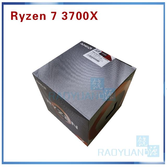AMD Ryzen 7 3700X R7 3700X3.6 GHz 7NM L3 = 32M 100 000000071 8 Core 16 חוט Socket AM4 עם cooler קירור מאוורר