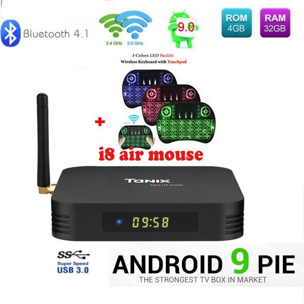 Tanix TX6 TV Box android 9 Allwinner H6 4 GB DDR3 32 GB EMMC 2,4 GHz 5 GHz WiFi BT4.1 Unterstützung 4 K H.265 Bluetooth 4,0 WIFI