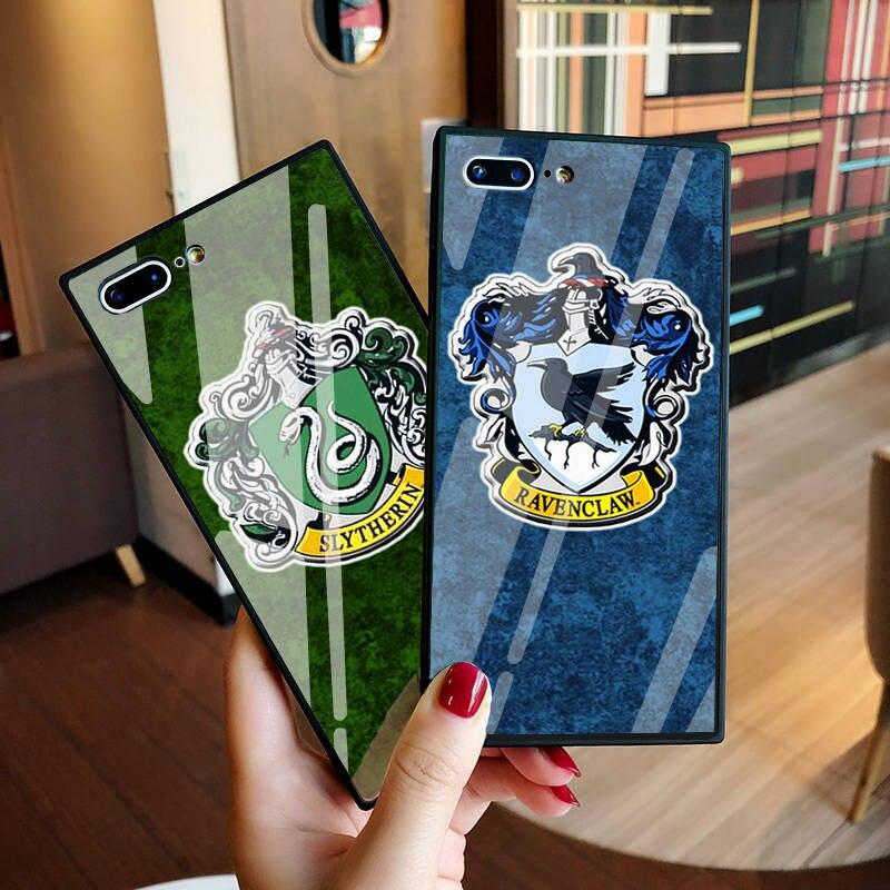 Силикон + закалённое Защитное стекло для iphone 8 чехол Гарри Поттер Дары смерти чехол для iphone 10X6 s 7 8 плюс Capinhas