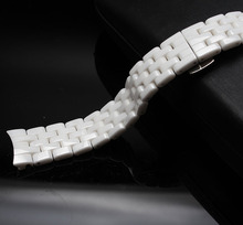16mm watches accessories a1477 watchbands white Ceramic Strap Bracelets ladys wristwatches strap bracelets curved end bright