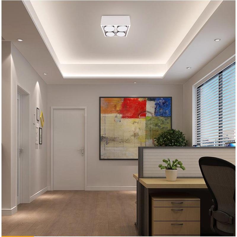 LED Ceiling Lights Square spot light LED lamps 4x9W led Gx53 bulbs home ceiling lamp Lighting for Living room Adjust beam angle