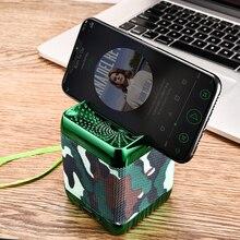 Мини Портативный Bluetooth Динамик Беспроводной Колонка басовый звук стерео сабвуфер FM радио громкой связи TF карта USB MP3 плеер для телефона