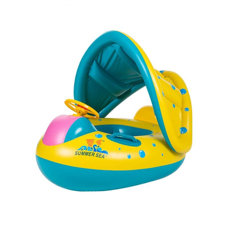 Лето музыка яхт-увеличение толще няни кольцо детский бассейн кольцо с рогом звук