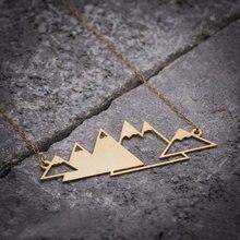 Niandi ажурное горное ожерелье уникальное золотое пирамиды горы