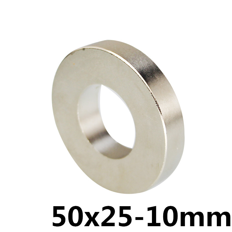 50x25 mm Hole 10 mm Super Strong Ring Loop Countersunk Magnet Rare Earth Neo Neodymium Magnets Cylinder 6mm new 5pcs 15 mm x 5 mm strong ring magnets countersunk hole 5 mm rare earth neodymium circular magnet neodymium magnet