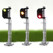 JTD1503GYR 3 шт. модель железнодорожной поезда сигналы 3-огни блок сигнал N масштаб 12 В