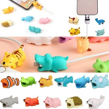 Case for  iphone SE 5s 5 Cute Silicone Cartoon Cable Protector USB Line Protection for iphone XS X XR 7plus 8plus 8 7 Saver protectores de cargador iphone